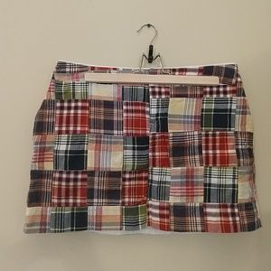 Land's End Canvas Madras Print Skirt Size 10